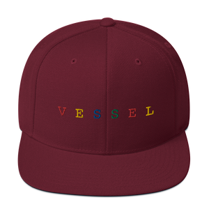 Rainbow Embroidered Snapback