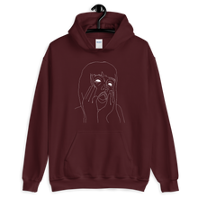Load image into Gallery viewer, Line Work Portrait Unisex Hoodie