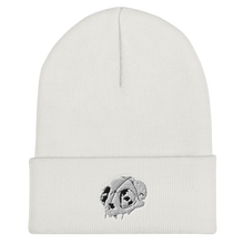 Load image into Gallery viewer, Cat Skull Embroidered Cuffed Beanie