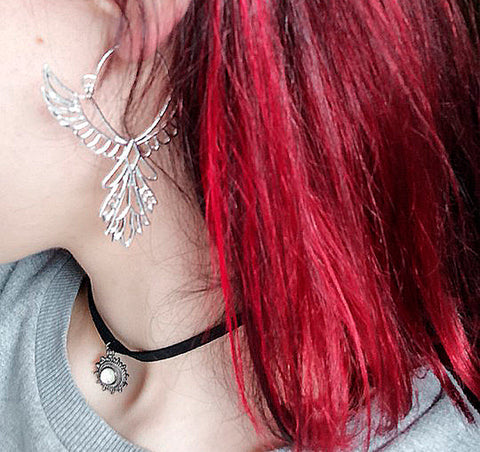boucles d'oreilles ethniquees ailes d'angees over size grunge