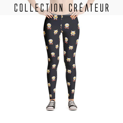 Leggings Imprimé Kitty Eggs Bacon - Leggings et collants - THE FASHION PARADOX