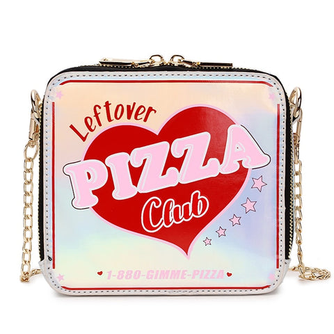 Petit sac à main similicuir végan PIZZA CLUB grunge aesthetic