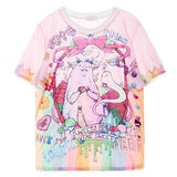 T-shirt oversize imprimé monstre kawaii - T-Shirts - THE FASHION PARADOX