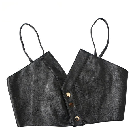 Crop top en simili-cuir - Top - THE FASHION PARADOX