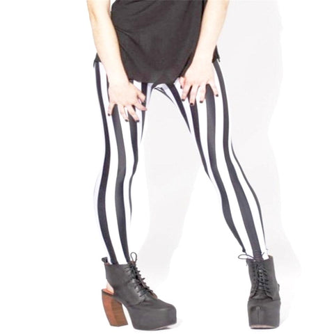 Leggings imprimé rayures verticales - Leggings et collants - THE FASHION PARADOX