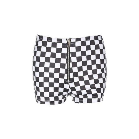 Mini short moulant à carreaux - Shorts - THE FASHION PARADOX