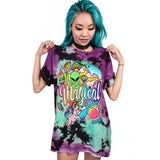 T-shirt graphique alien magical imprimé grunge motif placé - T-Shirts - THE FASHION PARADOX