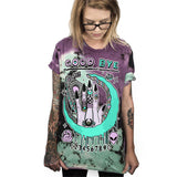 T-shirt graphique OUIJA WITCH imprimé grunge motif placé - T-Shirts - THE FASHION PARADOX