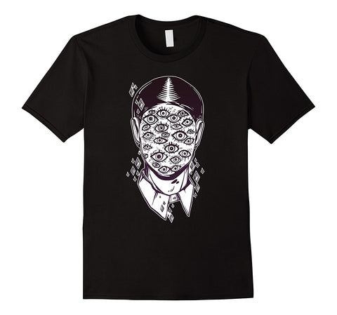 T-shirt noir grunge alternatif imprimé punk rock alien yeux unisexe - T-Shirts - THE FASHION PARADOX