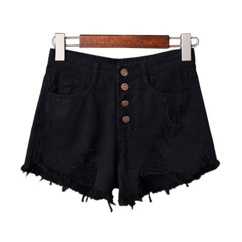 Short en jeans grunge rock déchiré 4 poches - Shorts - THE FASHION PARADOX