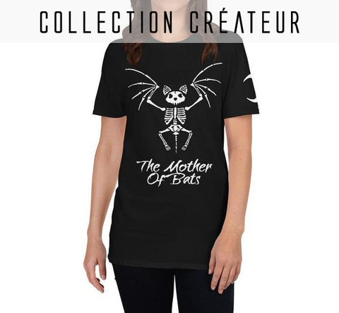 Tee-shirt dark squelette de chauve-souris, mother of bats, goth witch