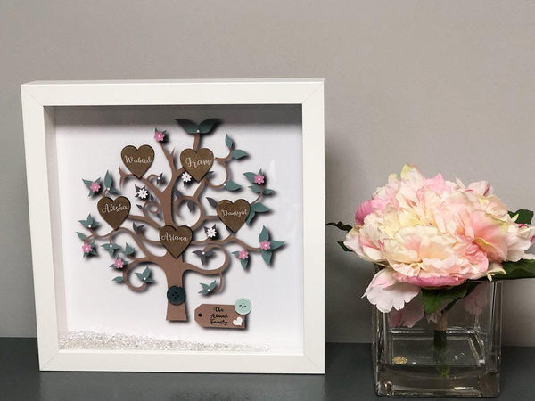 Personalise Family Tree Frame - Bee Free Prints