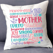 Mother's Day 'Word Art' Cushion Cushion Cover With InnersBee Free Prints