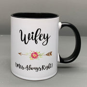 Hubby Wifey Couple Mugs set Mr Right Mrs always right Wedding Anniversary Gifts