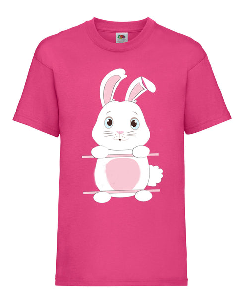 Personalised Kid's Easter Bunny T-Shirt 14-15 / FuchsiaBee Free Prints