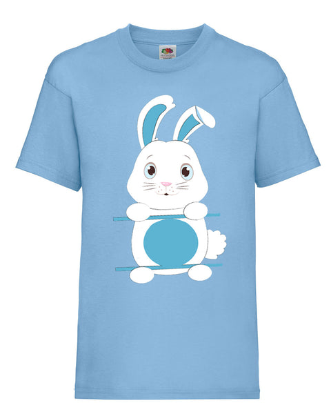 Personalised Kid's Easter Bunny T-Shirt 14-15 / Sky BlueBee Free Prints