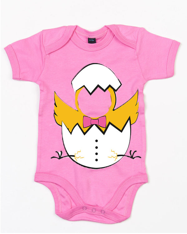 Personalised Baby Easter Egg Bodysuit (Chicks) 12-18 / PinkBee Free Prints