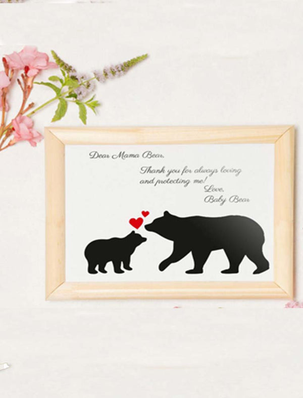 Personalised Mother's Day 'Mama Bear' Frame - Bee Free Prints