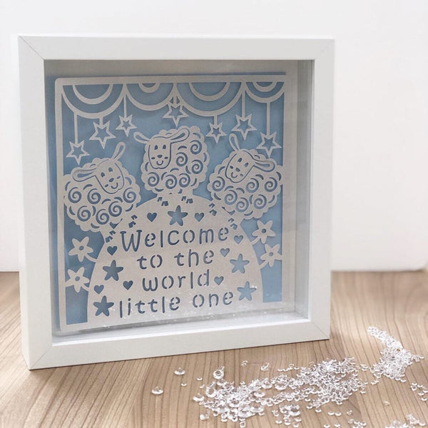 "Personalised Newborn Baby ""Welcome To The World Little One"" Frame"
