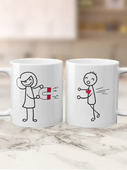 Cute Cartoon Valentine Mug (Set Of Two Mugs)