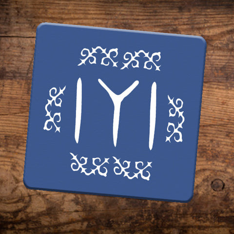 Ertugrul Kayi Tribe Symbol Table Coaster Mats with Cork base Pack Of Six CoastersBee Free Prints