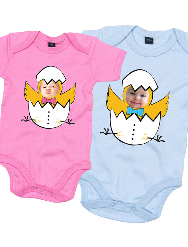 Personalised Baby Easter Egg Bodysuit (Chicks) Bee Free Prints
