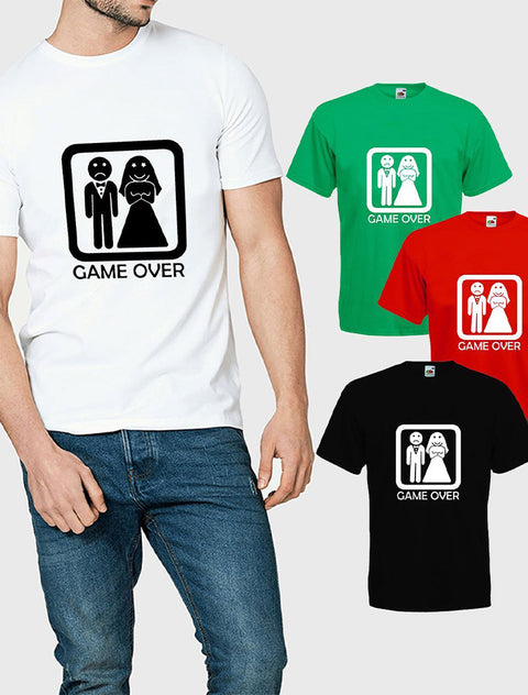 Pre-Design Men's 'Game Over' Stag Do T-Shirt Bee Free Prints
