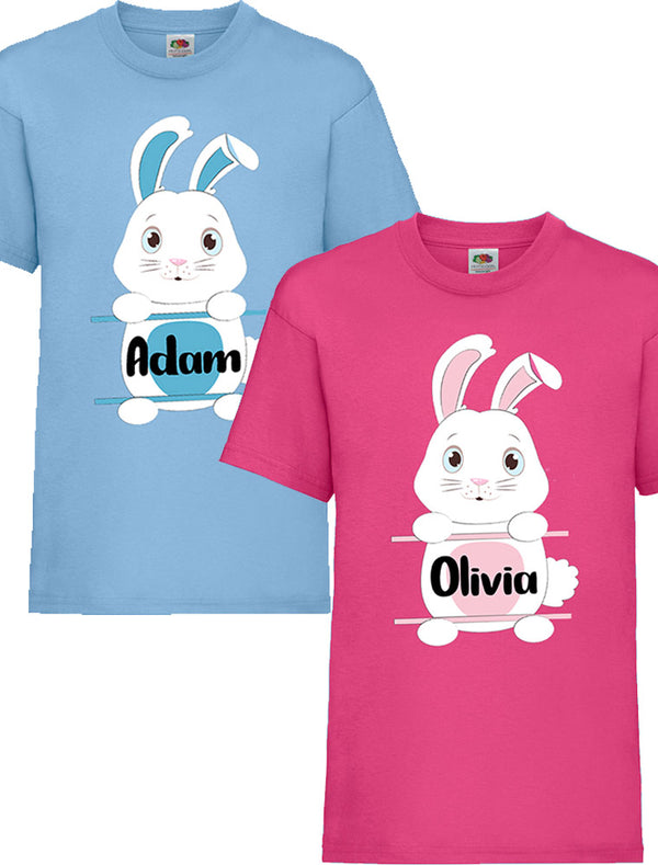 Personalised Kid's Easter Bunny T-Shirt Bee Free Prints