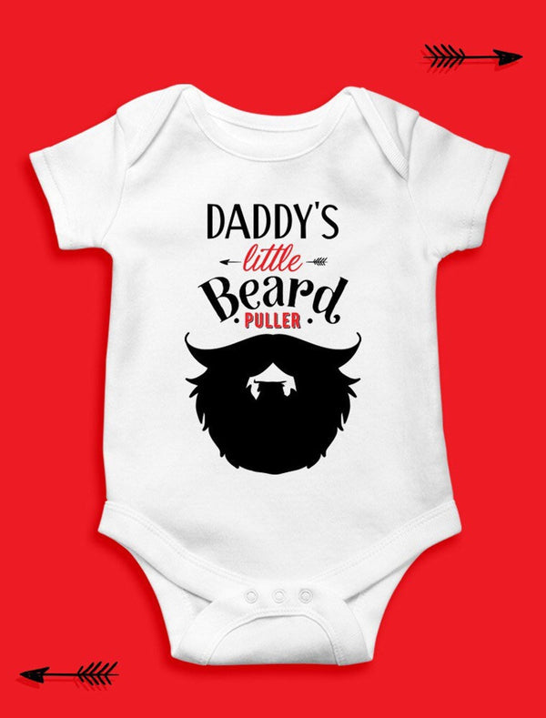 Daddy's Little Beard Puller - Baby Bodysuit 12-18 MonthsBee Free Prints