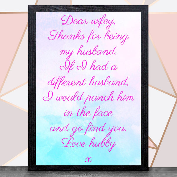 Valentines Day With Frame (Hubby & Wifey ) - Bee Free Prints