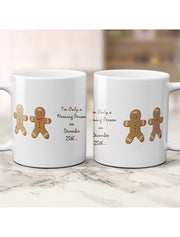 Gingerbread Morning Person Christmas Mug - 4 Colours Bee Free Prints