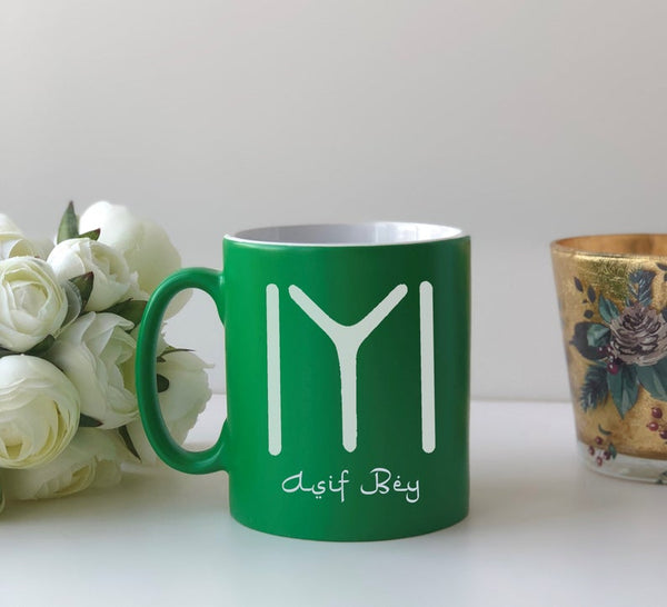 Personalised Ertugrul Theme Kayi Tribe logo mug Eid gift Green / Kayi Logo and NameBee Free Prints