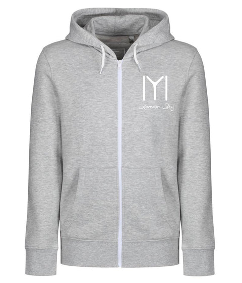 Personalised Ertugrul Theme Kayi Logo Adult Zipper Hoodie 2XL / Grey MarlBee Free Prints