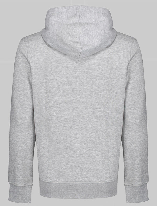 Personalise Unisex Adult Zipper Hoodie - Grey Marl Bee Free Prints