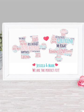 Personalised Puzzle Print Frame Bee Free Prints