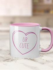 Coloured Inner & Handle Valentines Days Mug