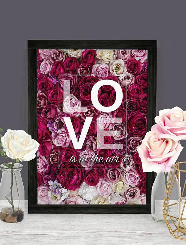 Personalise Valentines Day 'Love Is In The Air Print' With Frame - Bee Free Prints