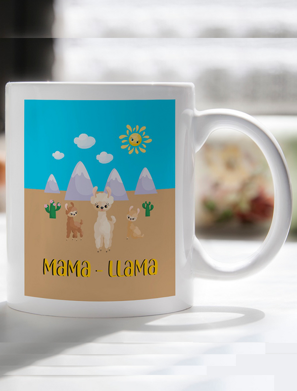 Mother's Day 'Mama Llama' Mug Bee Free Prints