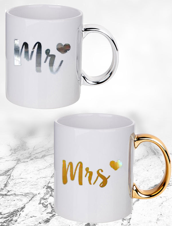 Mr And Mrs Couple Mugs - Set Of 2 Mugs Bee Free Prints