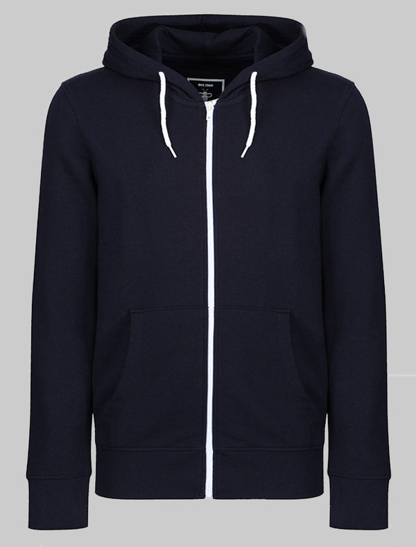 Personalise Unisex Adult Zipper Hoodie - Navy Bee Free Prints
