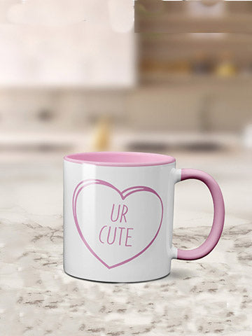 Coloured Inside Valentine's Days Mug - 4 Types Bee Free Prints