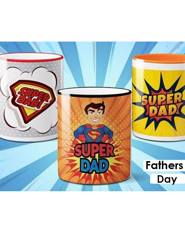 Super Dad Super Hero Mugs Bee Free Prints Mugs