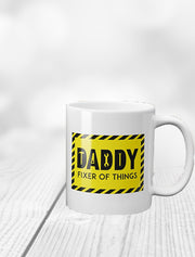 'Daddy Fixer Of Things' Father's Day Mug Bee Free Prints
