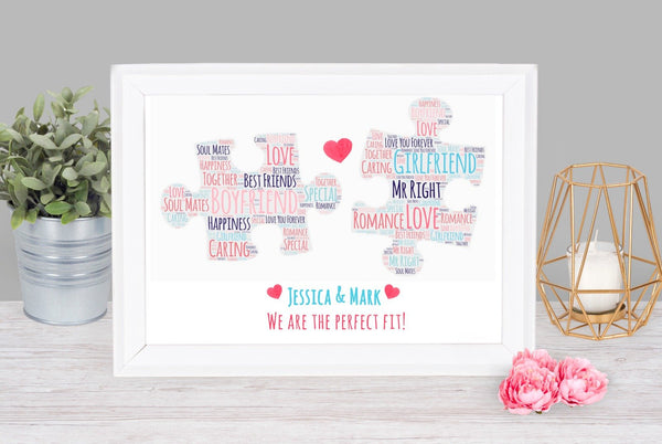 Personalised Puzzle Print Frame A4 Print / With FrameBee Free Prints