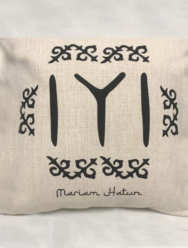 Personalised Ertugrul Kayi Tribe Symbol Linen Cushion Cover with filling Bee Free Prints