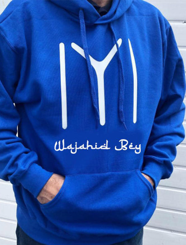 Personalised Ertugrul theme Kayi logo royal blue hoodie Adults Bee Free Prints