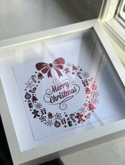 Personalised Rose Gold Foiled 'Merry Christmas' Frame Bee Free Prints
