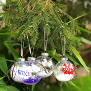 Personalised Christmas Baubles Xmas Gift With Name Print Bee Free Prints