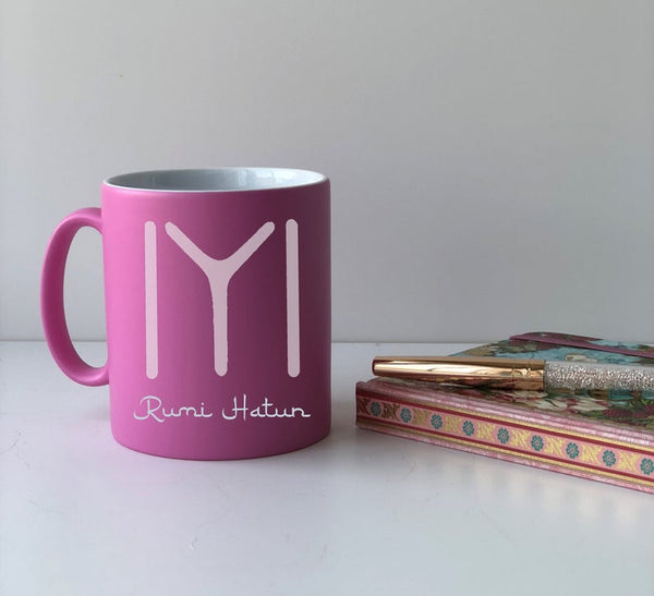 Personalised Ertugrul Theme Kayi Tribe logo mug Eid gift Pink / Kayi Logo and NameBee Free Prints