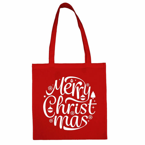 Merry Christmas Totebag Red / Both Side PrintBee Free Prints